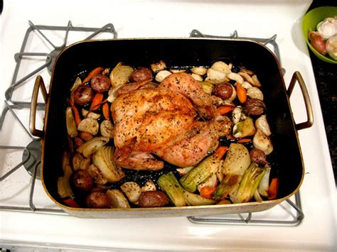 Thomas Keller's Roast Chicken With Root Vegetables The