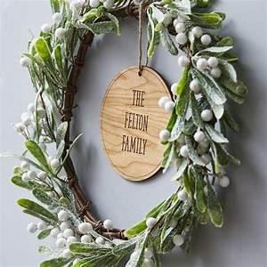 Mistletoe, Personalised, Christmas, Wreath, By, Sophia, Victoria, Joy