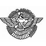 Assyrian Mesopotamia Ashur Symbol Empire Neo Sumer