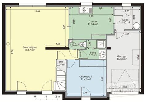 plan maison a etage 3 chambres plan de maison 2 chambres plan rdc maison maison 7 plan