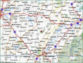 Tennessee Road Map East TN
