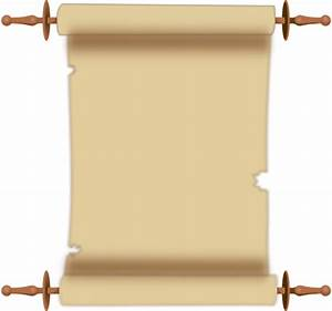 Scroll clipart old document - Pencil and in color scroll ...