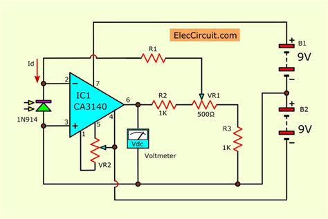 The Light Meter Circuit Using General Diode