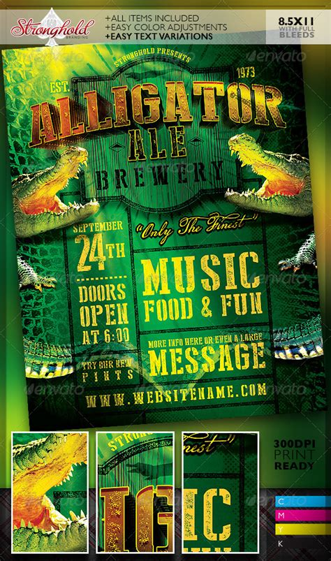 Transferring Preset Templates For Scribe America by Alligator Ale Brewery Flyer Template Clubs Events