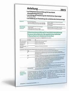 Einkommensteuererklärung 2015 Berechnen : anleitung zur einkommensteuererkl rung est1c 2015 ~ Themetempest.com Abrechnung