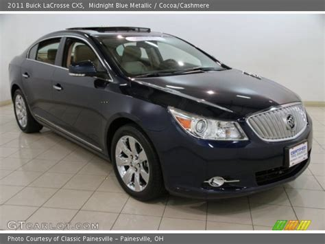 Buick Lacrosse 2011 Cxs by Midnight Blue Metallic 2011 Buick Lacrosse Cxs Cocoa
