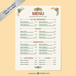 restaurant menu free templates myideasbedroomcom With html menu templates free download