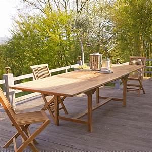 Table Teck Jardin : table de jardin rallonges en teck vente meuble d 39 ext rieur capri tikamoon ~ Teatrodelosmanantiales.com Idées de Décoration