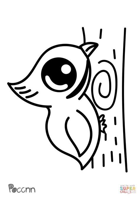 Cute Woodpecker coloring page Free Printable Coloring Pages
