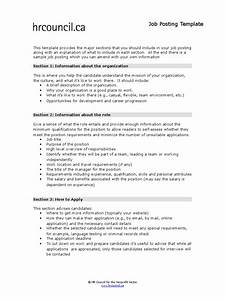 job posting template docsharetips With job postings template