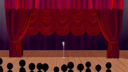 Stage Background Theater Backgrounds Cartoon Curtains Wallpapertag