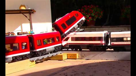 Lego Train Crash Compilation On A Crossing Track