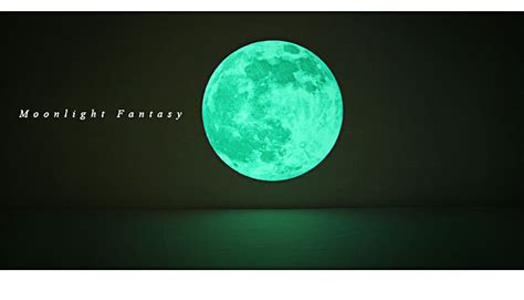 wall decor home moon glow   dark point decal sticker