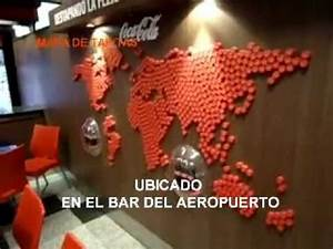 MAPA MUNDI HECHO CON TAPITAS DE GASEOSAS YouTube