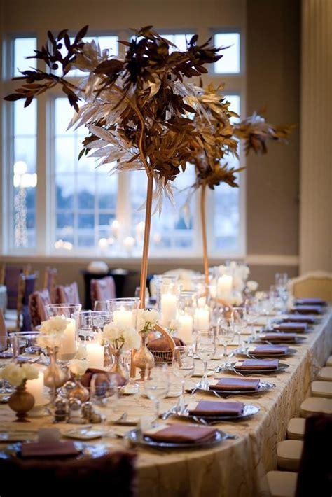gold  lavender silver purple table decor linen