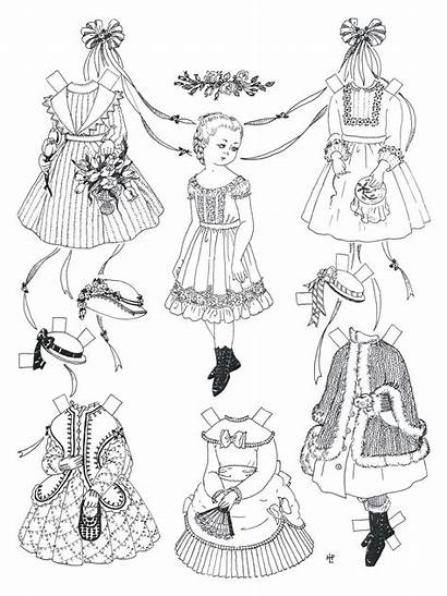 Paper Dolls Printable Coloring Doll Pages Victorian