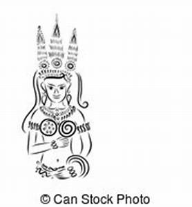 Apsara sketch Clipart and Stock Illustrations. 12 Apsara ...
