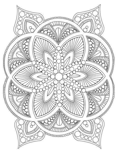 abstract mandala coloring page  adults diy printable
