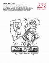 18th Vine Flyer Coloring Jazz Museum sketch template