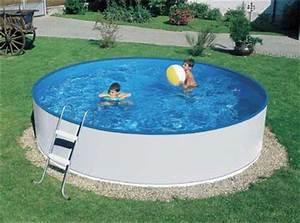 Piscine Hors Sol Plastique : piscina fuori terra in acciaio autoportante azuro basic tonda ~ Premium-room.com Idées de Décoration