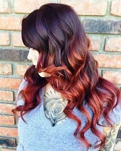 Balayage Braun Rot : 25 thrilling ideas for red ombre hair ~ Frokenaadalensverden.com Haus und Dekorationen