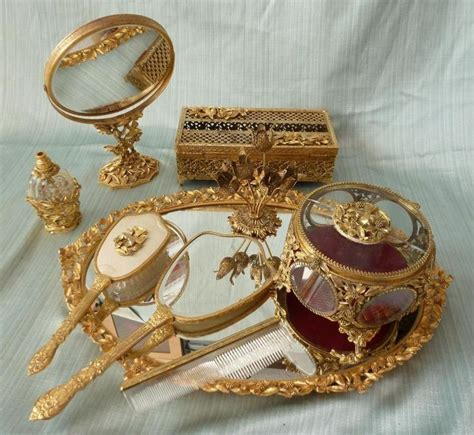 gold vanity table set 216 best hand mirror and vanity sets images on pinterest