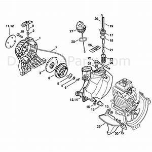 Stihl Km 130 Engine  Km130  Parts Diagram  Rewind Starter