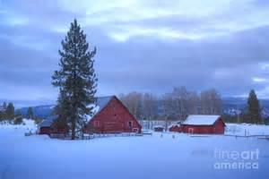 Winter Farm Scenes as Background