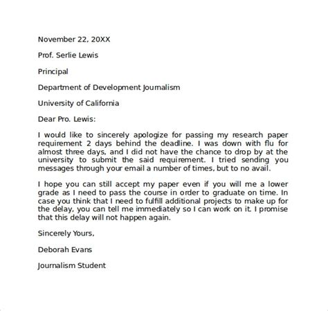 apology letter  school    documents