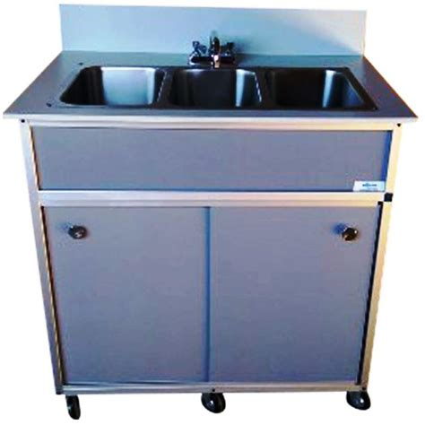 portable sinks for sale shop monsam gray triple basin stainless steel portable