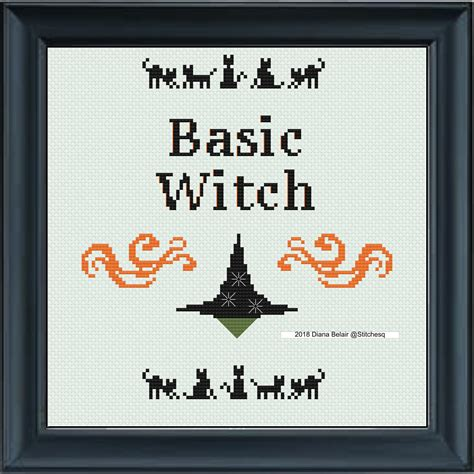 basic witch  instant  halloween cross stitch