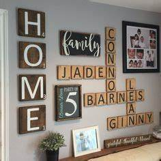 scrabble letters wall decor diy pinterest letter With scrabble letters home decor