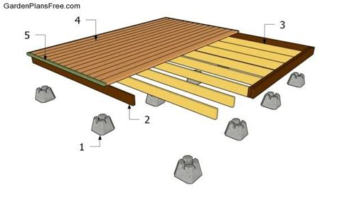 10x10 freestanding deck plans free standing deck for the front of the house if