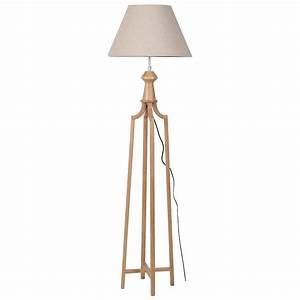Wood frame tripod floor lamp beige shade mulberry moon for Floor lamp with picture frames