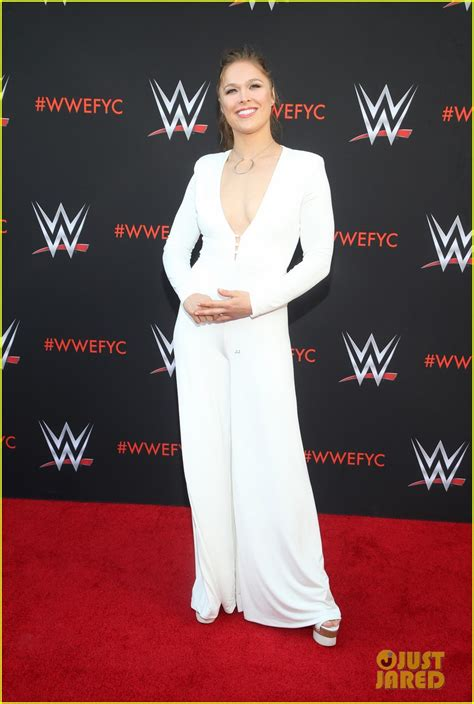 ronda rousey joins bella twins  wwe fyc emmys event