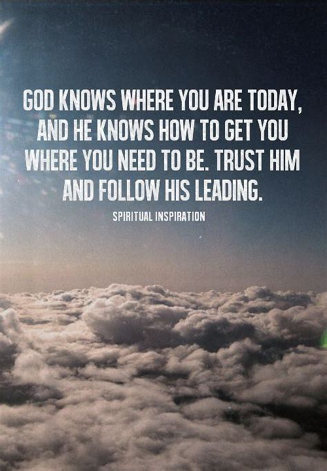 Let God Lead Quotes