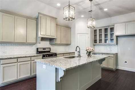 amazing gray cabinets white  countertops southern style
