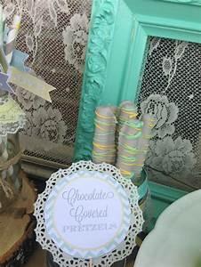 vintage bridal shower via kara39s party ideas kara With vintage wedding shower ideas