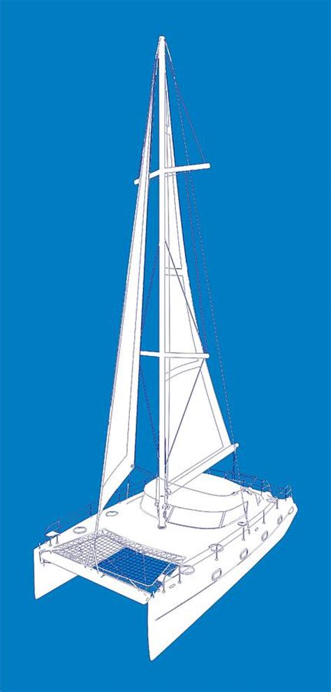 Catamaran Drawing by Catamaran Boat Drawing By Nenad Cerovic
