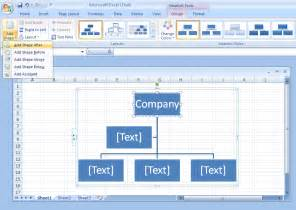 Microsoft Excel Organization Chart Templates
