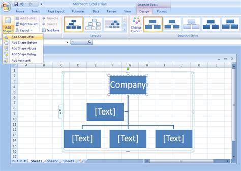 add  shape   organization chart organization chart