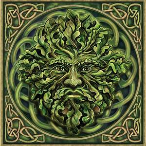 Pagan Green Man Greeting Card