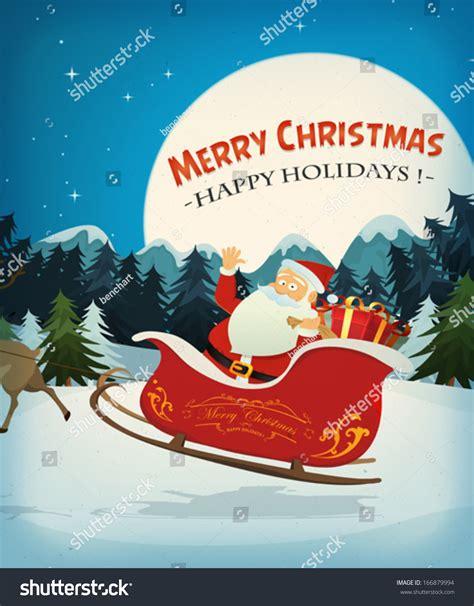 Santa Claus Card By Benchart Vectors Eps Merry Card Illustration Santa Claus Stock Vector
