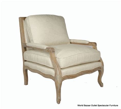 30 quot wide accent arm chair solid oak wood frame