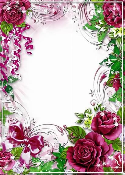 Flower Clip Frames Frame Floral Clipart Borders