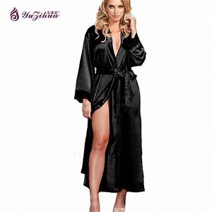 big silk robes for women bathrobe satin robe sexy robes With robe de chambre femme luxe