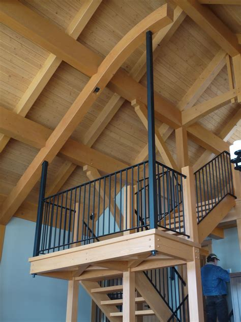 stair landing suspended  cantilever beam   bent