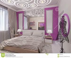 illustration 3d d39une chambre a coucher pour la jeune With les chambre pour filles