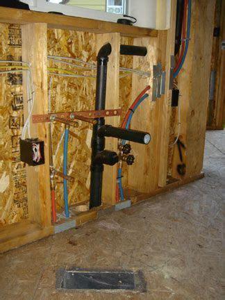 plumbing pex water lines drainwastevent sink install