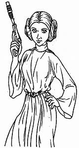 Princess Leia Coloring Pages Lei Printable Getcolorings sketch template